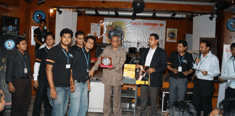 Getting Award from AIUB