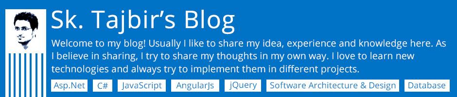 Sk. Tajbir - Blog
